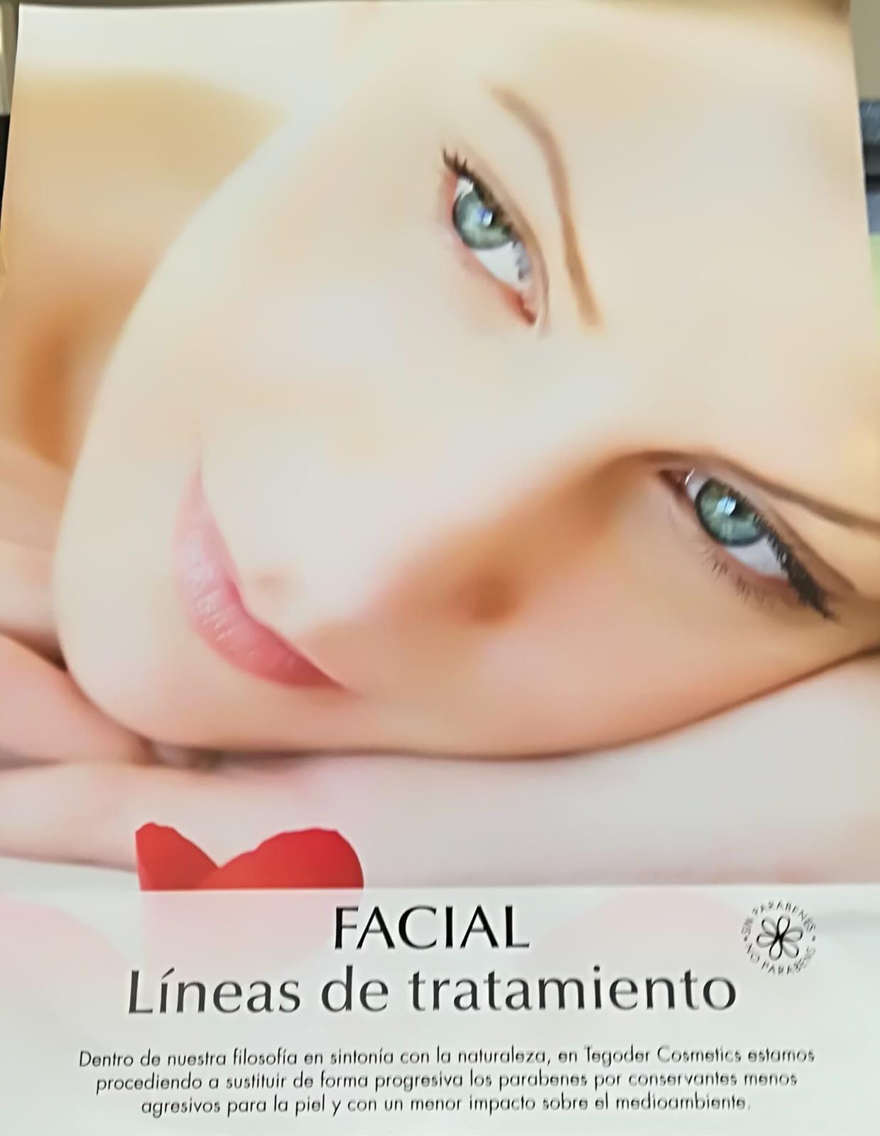 Facial línea de tratamiento